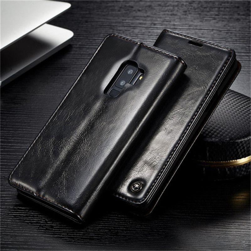 CaseMe De Luxe Portefeuille En Cuir Téléphone Cas Pour Samsung S9 S8 Plus Magnétique Flip Titulaire Couverture pour Samsung S7 S6 bord note 8 Note 9