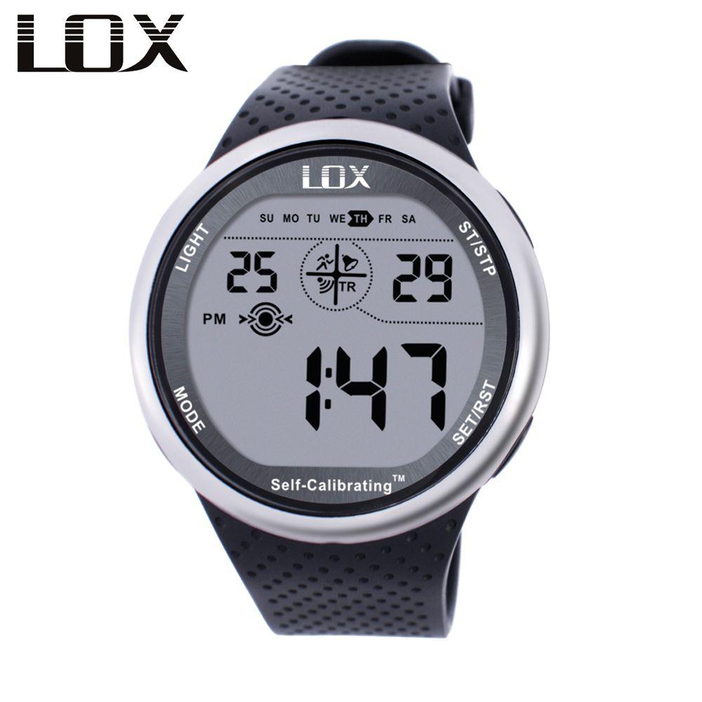 Lox самокалибрующийся Интернет синхронизации Для мужчин Спортивные часы Водонепроницаемый 100 м цифровые часы Одежда заплыва дайвинг наручн...