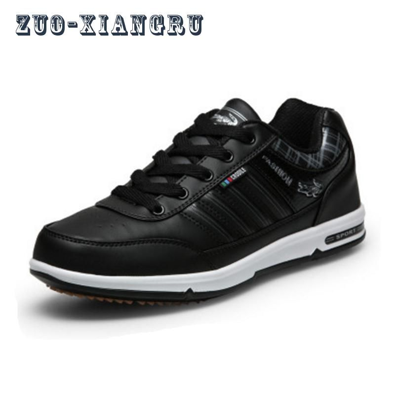 2017 neue Laufende Schuhe der Männer Wasserdicht Turnschuhe Komfortable Sportlich Sportschuhe Erwachsene PU Verhindern Abrutschen Schuhe