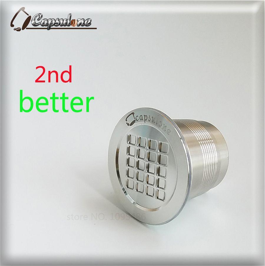 Capsulone ACIER INOXYDABLE Métal Capsule Compatible pour Nespresso Machine Rechargeable Réutilisable café capsule/cadeau