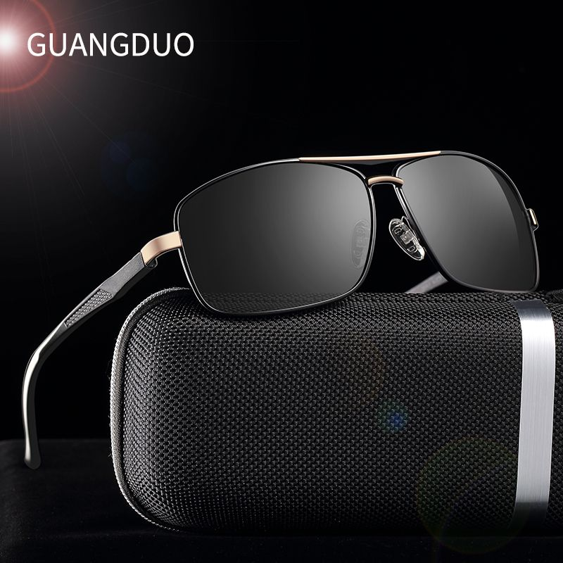 GUANGDU Brand Polarized Sunglasses Men New Fashion Eyes Protect Sun Glasses With Accessories Unisex driving goggles