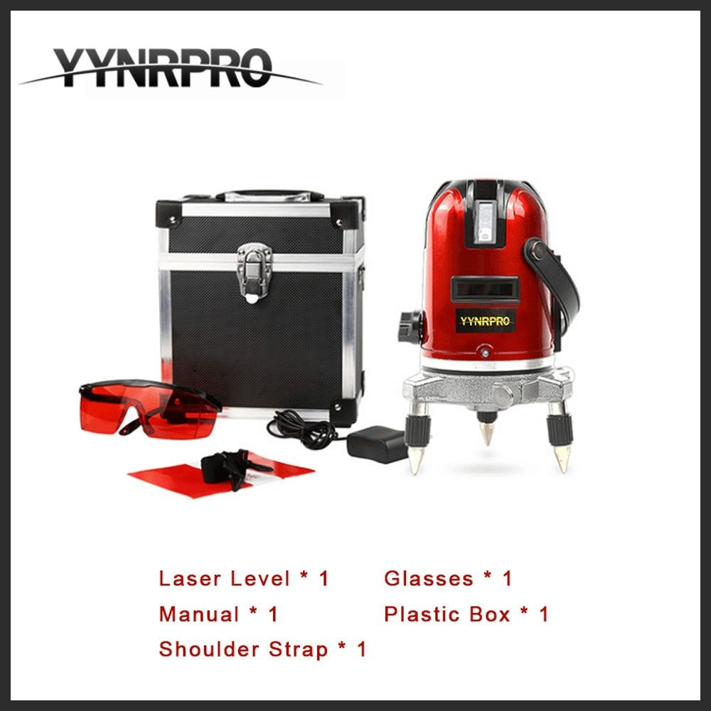 YYNRPRO 5 Lines 6 Points Laser Level 360 Vertical & Horizontal Rotary Cross Laser Line Leveling Outdoor reciver acceptable