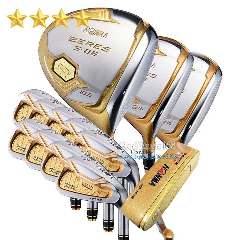 Neue Compelete club set HONMA S-06 4 sterne Golf clubs Fahrer Fairway holz irons Keine tasche putter Graphit Golf welle freies verschiffen