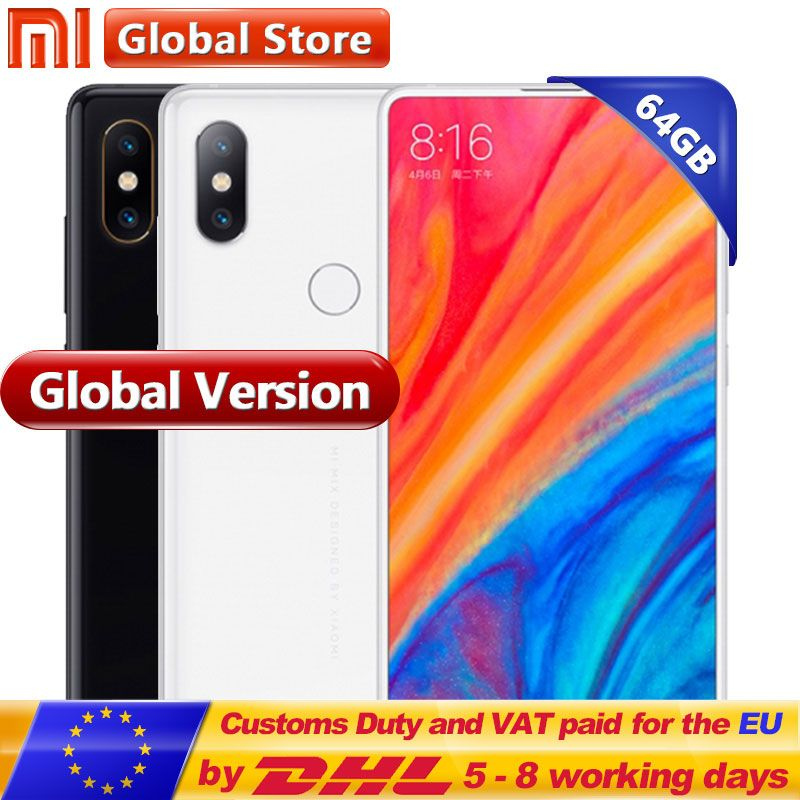 Global Version Xiaomi Mi MIX 2S 64GB ROM Mobile Phone 6GB RAM Snapdragon 845 Octa Core 3400mAh 5.99