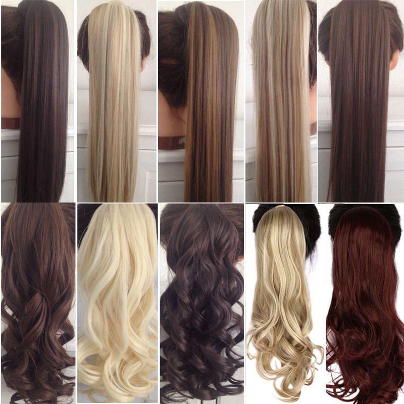 S-noilite 23 longue pince bouclée en queue de cheveux faux cheveux queue de cheval postiche avec épingles à cheveux cheveux synthétiques queue de poney Extension de cheveux