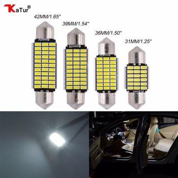 2 pcs Led plafonnier Lampe De Tronc Auto Éclairage Intérieur Pour voitures Light-emitting Diode 31mm 36mm 39mm 42mm LED Voiture Plafond lumières