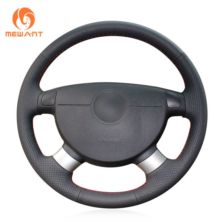Black Artificial Leather Steering Wheel Cover for Chevrolet Lova 2006-2010 Chevrolet Aveo Buick Excelle Daewoo Gentra 2013-2015
