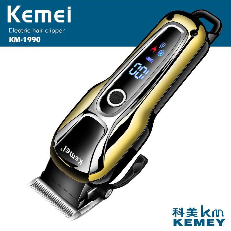 100-240V kemei rechargeable hair trimmer professional hair clipper hair shaving machine hair cutting beard electric razor