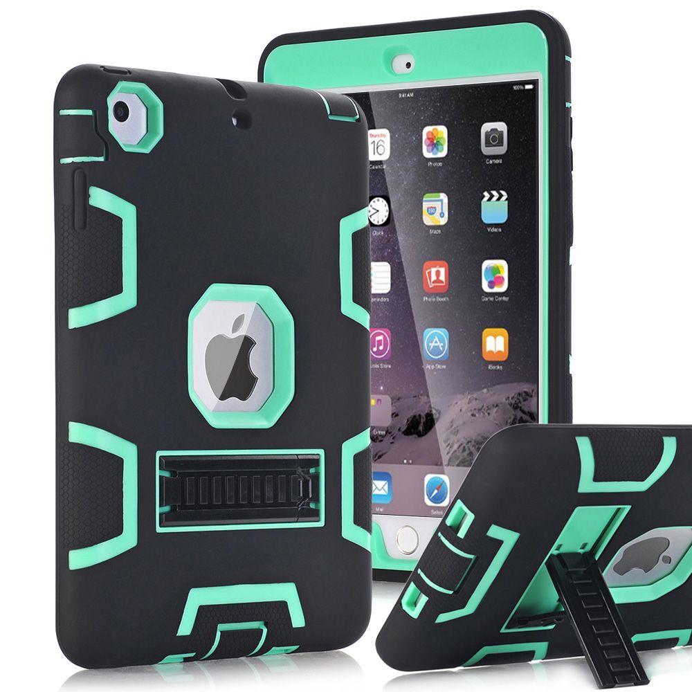 Pour Apple Ipad Mini 1/2/3 Cas Couverture Haute Résistant Aux Chocs hybride Trois Couche Heavy Duty Armure Défenseur Complet Corps Protecteur cas