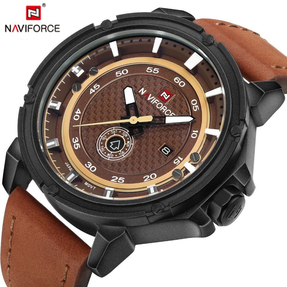 NAVIFORCE Top Luxury Brand Watch Men Army Military Fashion Casual Quartz Watches Man Waterproof Male Clock Relogio Masculino