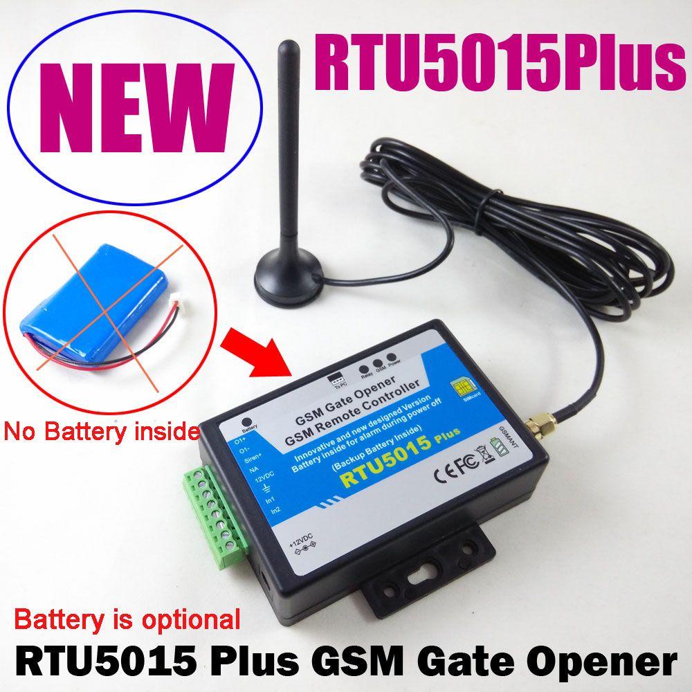 RTU5015Plus Abrelatas de la Puerta GSM Abridor de Puerta de Garaje de Control de Acceso Remoto Controlador de Batería Mejorada RTU5024 a RTU5015Plus con app