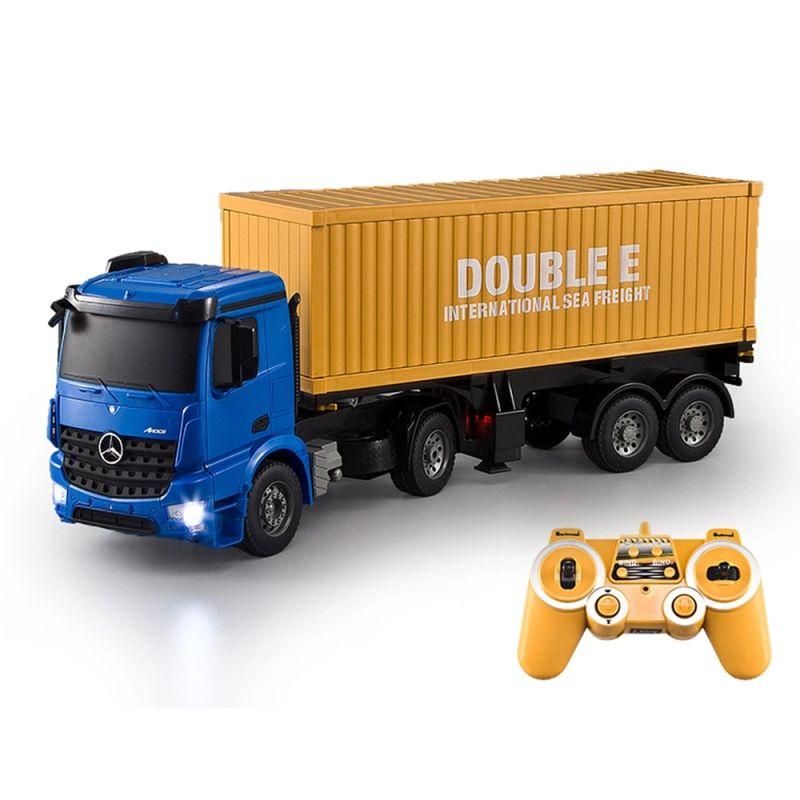 Die besten geschenke rc spielzeug RC Lkw Modell Super Speed E564 hohe Geschwindigkeit große fernbedienung Container Truck spielzeug Simulierte lichter spielzeug