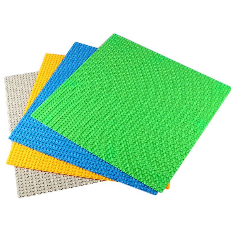 48*48 points plaques de Base compatibles LegoINGlys Technic blocs de construction bricolage plaque de Base grand carré en plastique planchers briques pour les enfants