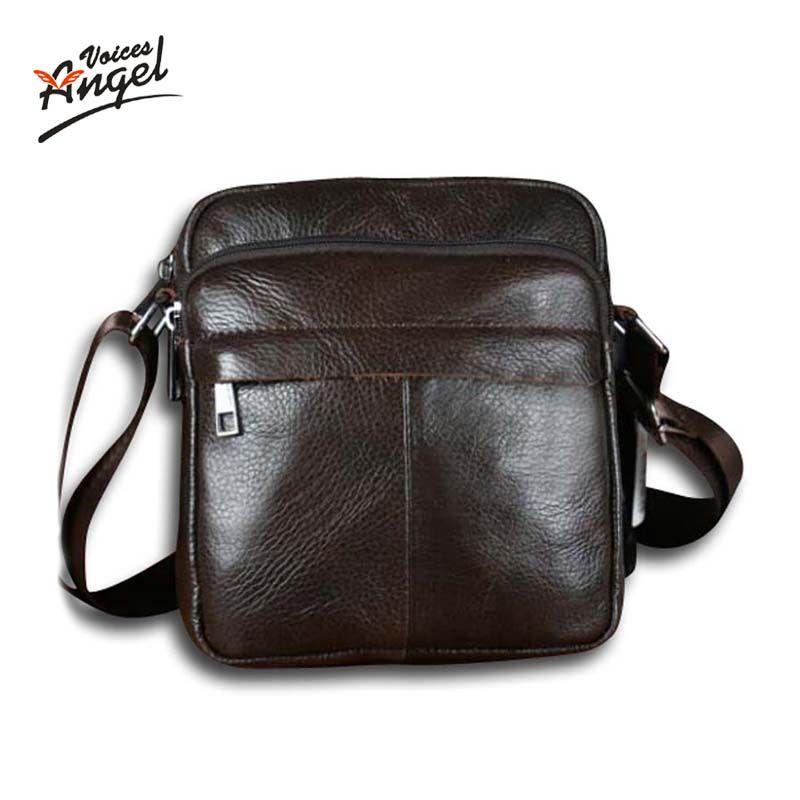 Voix d'ange! Offre spéciale nouvelle mode en cuir véritable hommes sacs petit sac à bandoulière hommes messenger sac bandoulière sac de loisirs XP491