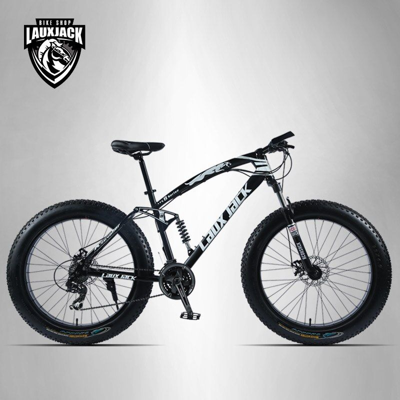 LAUXJACK Berg Fett Bike 26 Räder SHIMANO 24 Geschwindigkeit Volle Ausgesetzt Rahmen