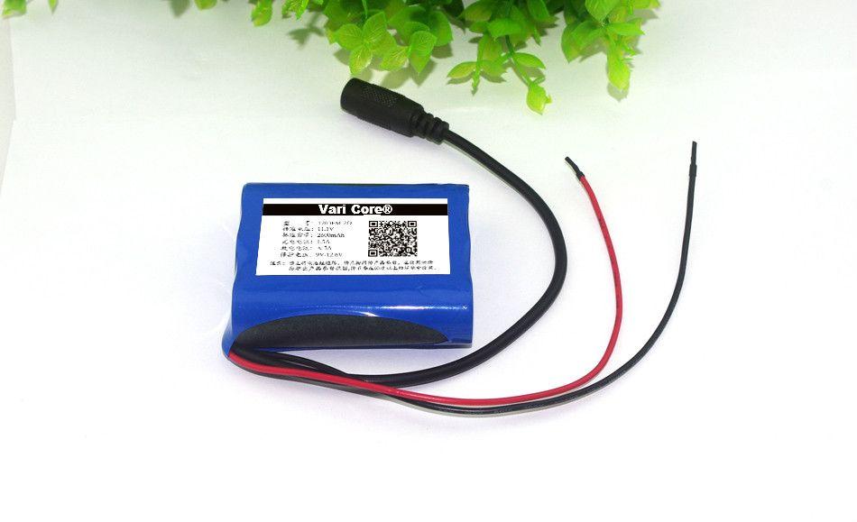 VariCore 12 V 2600 mAh au lithium-ion Batterie 12.6 V à 11.1 V CCTV Caméra Rechargeable batterie pack 18650 batteries