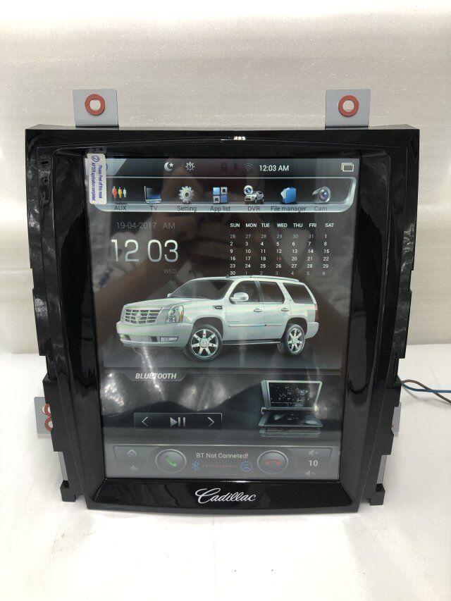 Vertikale Bildschirm 10,4 Quad Core Tesla 1024*768 Android Auto DVD GPS Navigation Radio Audio Player für Cadillac escalade RAM 2GB