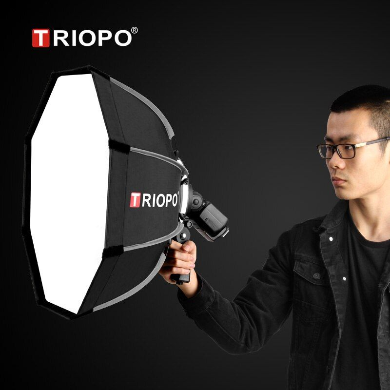 TRIOPO 65cm Portable Outdoor Octagon Umbrella Softbox for Godox V860II TT600 TT685 YN560 III IV TR-988 Flash Speedlite Soft Box