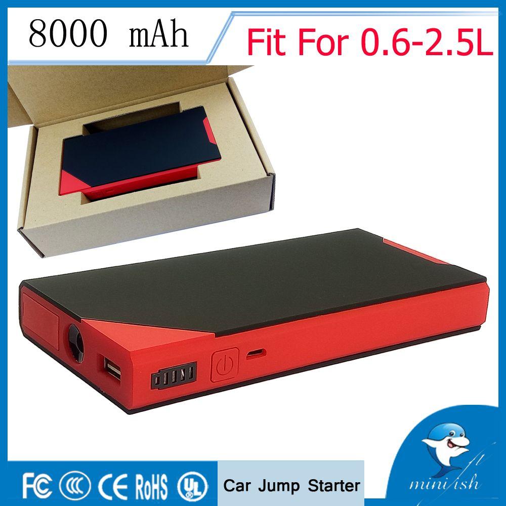 Vente chaude Mini Portable démarreur de saut de voiture 12 V chargeur de batterie externe Auto démarrage d'urgence batterie externe