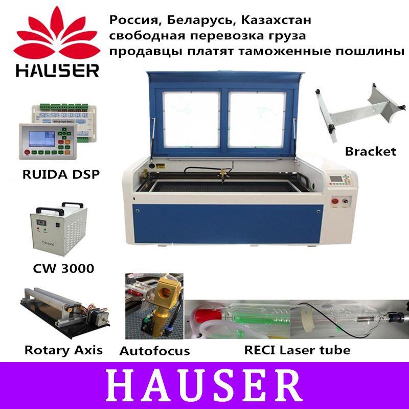 RECI 100 W Co2 Laser Gravur Maschine USB Auto Fokus Laser Schneiden Maschine mit DSP System Gravur Maschine Kühler 100 0x600mm