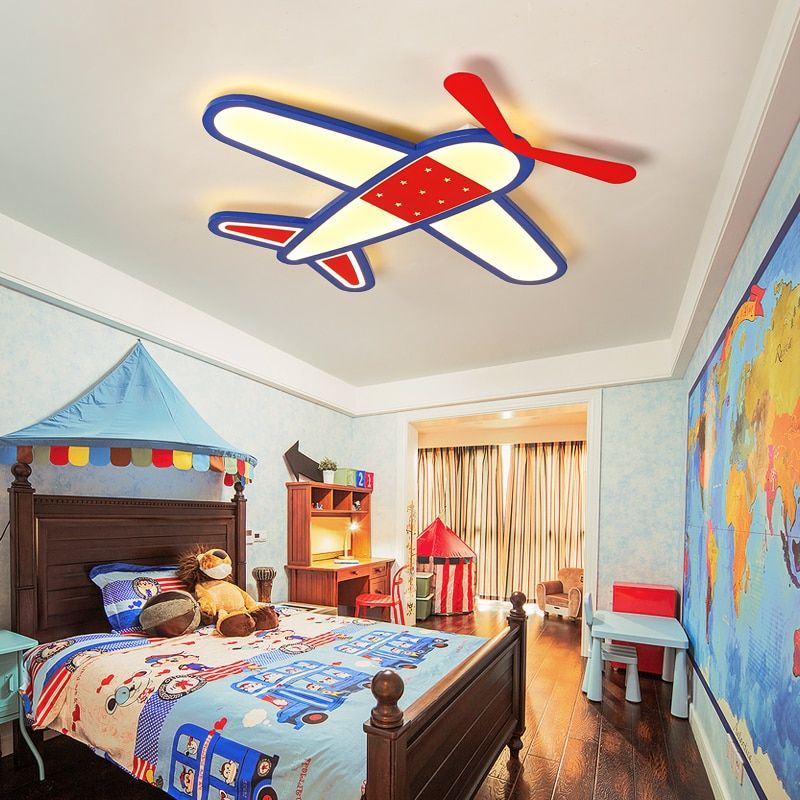 New Cartoon plane Led Ceiling chandelier Modern chandelier for Children Bedroom lustre Home Indoor Lighting Decoration Fixture