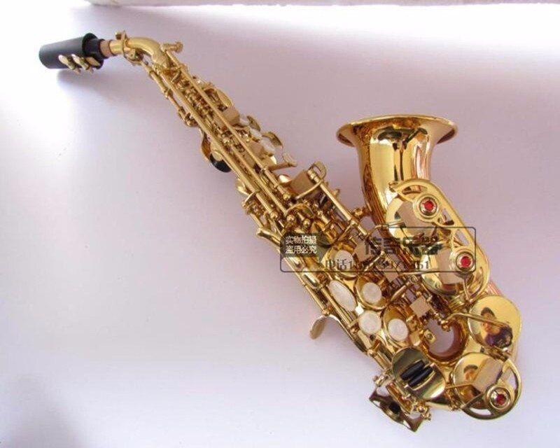 Top B flat sax small Saxophone Soprano curved Sax adult children wind musical instruments free delivery