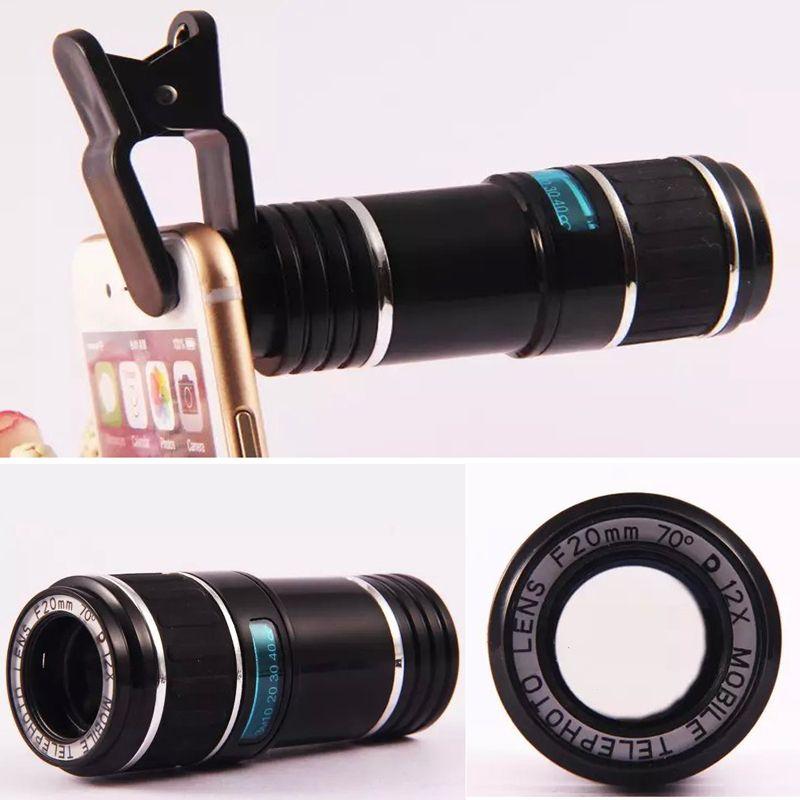 Universal Clip 12X Zoom Telephoto Telescope Camera Phone Lens for HTC ONE M9 M8 M7 HTC 10 EVO G3 G4 G5 G6 SE V10 V20 G4 G5 mini