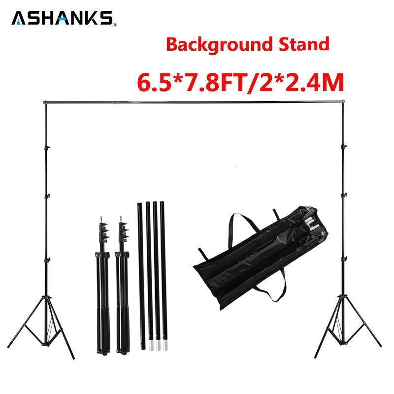 ASHANKS Pro Photography Studio Photo Backdrops Frame Background Support System 2M X 2.4M Stands For Photo Shoot + Carry Bag