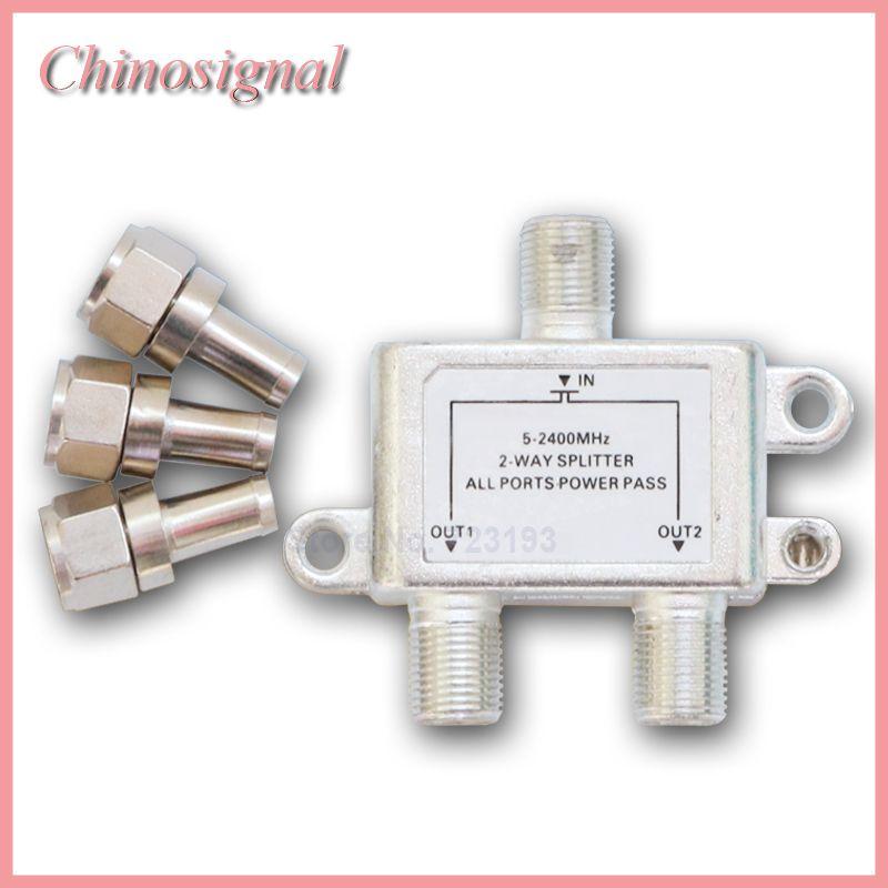 Haute qualité 5-2400 mhz 1 à 2 façons splitter avec petit N connecteur pour câble coaxial splittering avec pas cher prix sur vente 2017