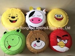 Cartoon Style Plush Villus Inflatable Stools Pouf Chair Seat Bedroom Lovely Air Stool Ottomans