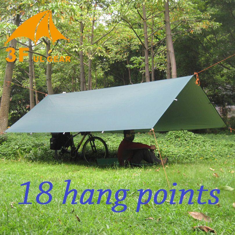 3F UL Gear Ultralight Tarp Outdoor Camping Survival Sun Shelter Shade Awning Silver Coating Pergola Waterproof Beach Tent