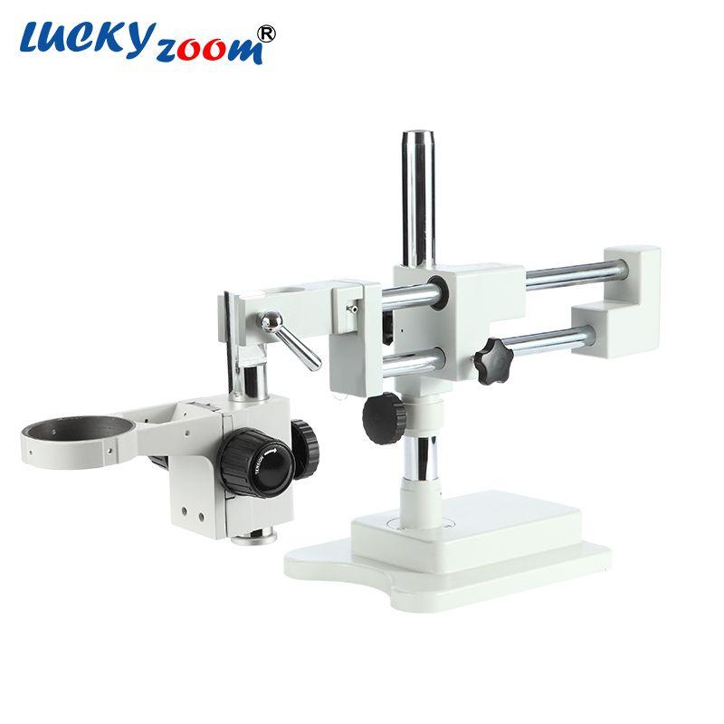Luckyzoom Starke Flexible Trinokular Doppel Arm Basis Für Stereosummen-mikroskop Bühne A1 Microscopio Zubehör Kostenloser Versand