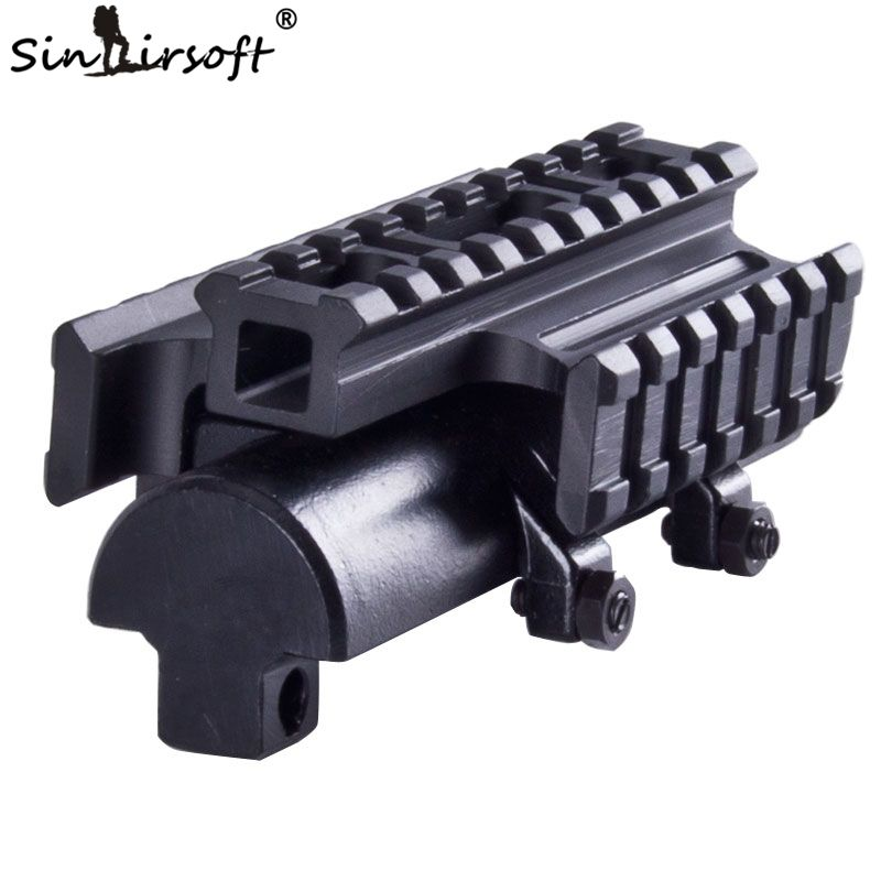 Sinairsoft New Gen SKS Tri-Rail Tactical See-thru Receiver Cover Scope Mount  MNT-T640TR Free Shipping
