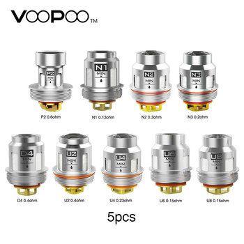 5Pcs VOOPOO Uforce U2 U4 N1 N2 N3 P2 Replacement Coil Core Head Fit Voopoo Uforce Tank Voopoo Drag 2 Voopoo Drag mini Vape KIt