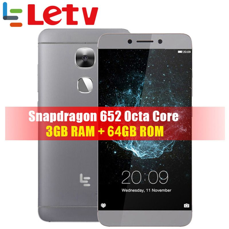 Original Letv Le 2X620X625X527 4G LTE téléphone mobile Android 6.0 téléphone Octa Core 5.5 ''16MP empreinte digitale de caméra