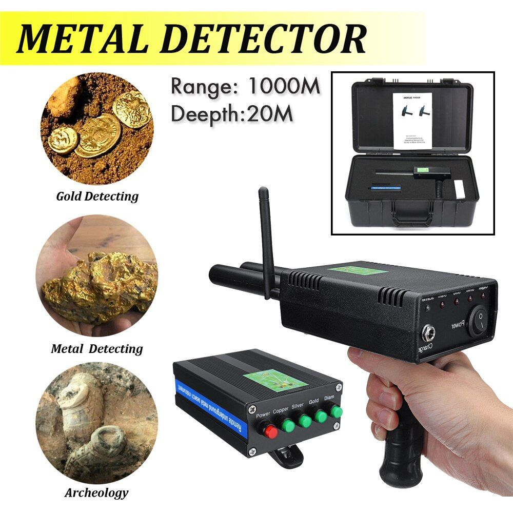 Outdoor 20M Deepth Underground AKS 3D Metal Detector upgrade Metal Detector for Adventure gold silver copper diamond Detector