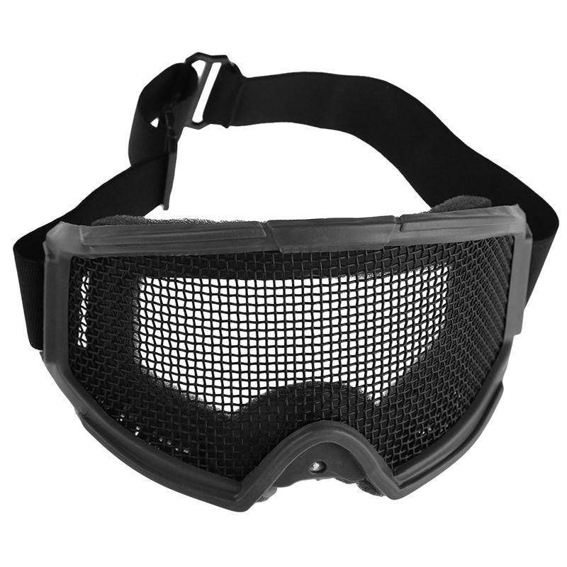Nouveautés Airsoft Protection oculaire tactique maille métallique lunettes lunettes Sports de plein air Camping chasse lunettes accessoires de sécurité