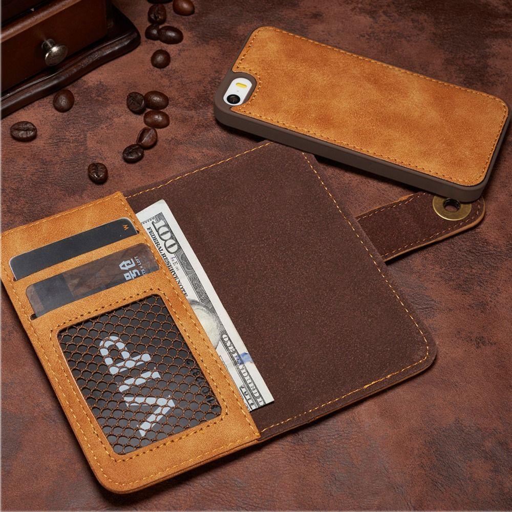[Длинные Стивен] для Iphone 5 Case unique съемный кожаный для iPhone SE чехол Бумажник Filp магнит задняя крышка для iphone 5S случае