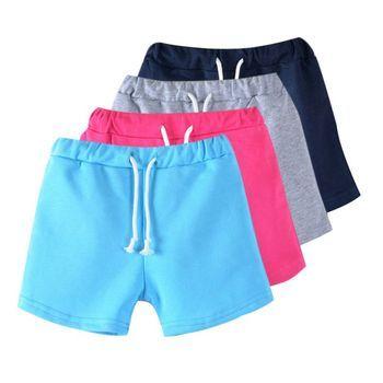 Nouvelle couleur de sucrerie garçons shorts de plage d'été chaud bébé pantalon shorts enfants enfants pantalon fie pour 3-13Y S2