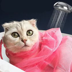 Malla Baño de gato gatos Grooming lavado bolsas gato baño limpio No rascarse mordedura retención gato suministros de corte de uñas YT0015