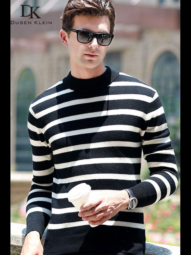 Dusen Klein Männer Grundlegende Pullover Slim Fit Langarm Shirt männer Pullover Strickwaren Kaschmir Wolle Pull Homme 68186 2019 frühling