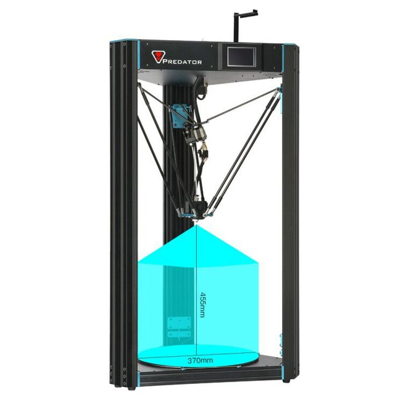 ANYCUBIC Predator Delta Kossel 3D 370*370*455mm Drucker Plus Größe pre-montiert Ultrabase Pro 3D drucker Kit impresora 3d