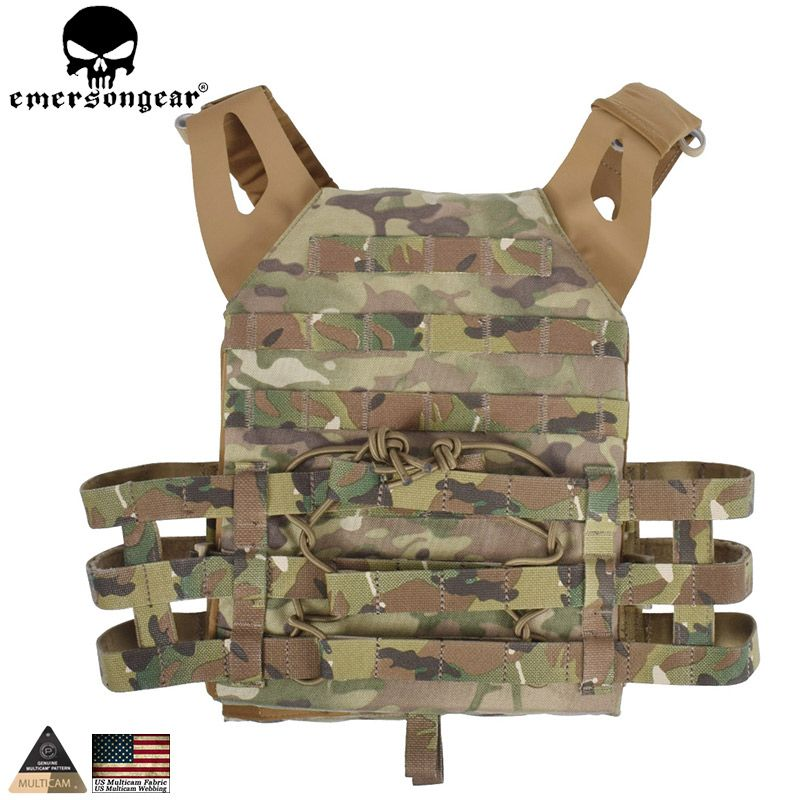 EMERSONGEAR Taktische Molle GPA Weste Vereinfachte Version Paintball Jagd Weste mit Chest Plate Carrier EM7344