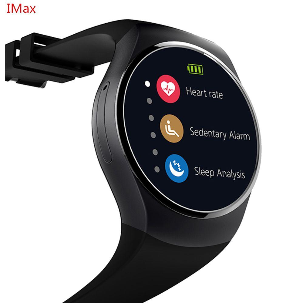 KW18 Smart Montre SIM TF MTK2502 Moniteur de Fréquence Cardiaque Smartwatch Écran Tactile bluetooth Montre-Bracelet pour apple android IOS téléphone