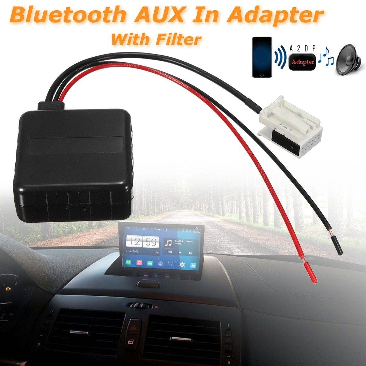 12 Pins Car Bluetooth Aux Adapter Radio Speaker With Filter For BMW E60 E61 E63 E64 E83 X3 Z4 2002-2006 2007 2008 2009 2010