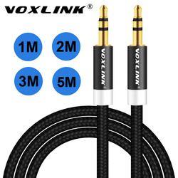 Voxlink 1 m/2 m/3 M enchapado en oro 3.5mm aux macho a macho cable de audio línea de cable para el iPhone del coche MP3/MP4 altavoz del auricular