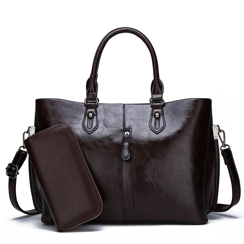 Echtem Leder Tasche Handtaschen Quasten Schulter Tasche Mode Frauen Handtaschen leder Große Kapazität shopper taschen für frauen 2019 C821