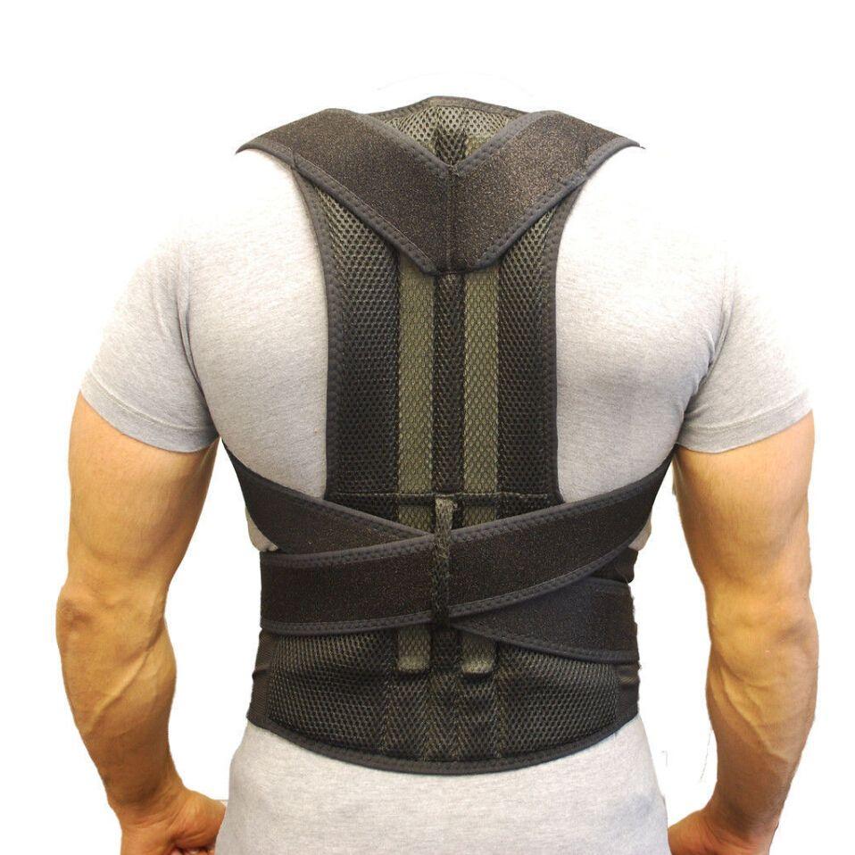 Back Support Belt Orthopedic Posture Corset Back Brace Support Men Back Straightener Round Shoulder Men's Posture Corrector B003
