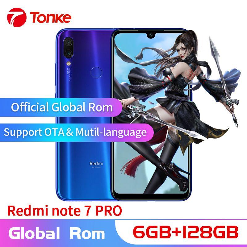 Neue Original Xiaomi Telefon Redmi Hinweis 7 Pro 6 GB RAM 128 GB ROM Snapdragon 675 Octa Core 6,3