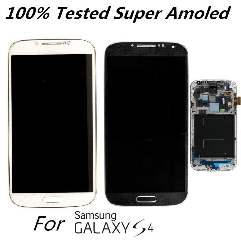 Super Amoled Original LCD Display für Samsung Galaxy S4 I9500 I9505 I337 I9506 Ersatz LCD Sscreen mit rahmen 100% Getestet